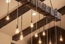 Rustic Industrial / Metal, wood, exposed brick. Form and function.