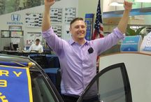 """Crown Honda & Pinellas Park Rotary Club Car Giveaway! / Pinellas Park Rotary Club and Crown Honda had the pleasure of awarding a very deserving community member a """"better way to get to work"""" this afternoon. The recipient, Thomas """"Tommy"""" Villtos was nominated by Darlene Burns, the Clinical Manager of Surgical Services at Northside Hospital. We're proud of all of Thomas's hard work and hope he absolutely loves his new car!"""