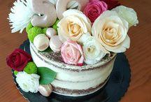 tartas con flores naturale