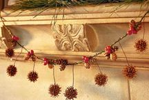 Christmas Natural Decorating / Natural decorating ideas for Christmas; pine cones, twigs, acorns, branchs