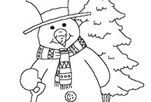 9 Winter Coloring Pages