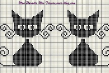 Cross Stitch Cats / Cute kitten cross stitch designs.
