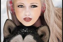 mis bellas imagenes -mujery perrro