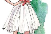 Платье эскизы