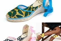 African Print Sandals