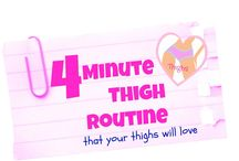 THE BEST THIGH EXERCISES FOR WOMEN / A selction of the  best thigh toning workouts for women.