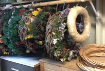 Storing wreaths and bows