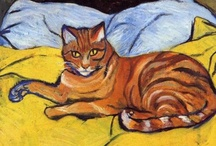 Cats in Art-Suzanne Valadon at The Great Cat / http://www.thegreatcat.org/the-cat-in-art-and-photos-2/cats-in-art-20th-century/suzanne-valadon-1865-1938-french/