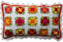 pillows crochet / crochet pillow covers