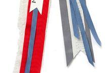 pins and ribbons
