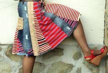 Faldas recicladas