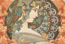 Alphonse Mucha / A selection of Mucha images, available from around the internet.