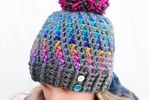 Crocheted hats scarfs ect