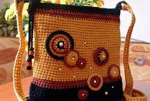 Ganchillo Bolsos bandolera crochet / Inspiración. Ideas para realizar bolsos bandolera a ganchillo, crochet o tejidos.