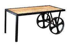 Cosmo Industrial Furniture / Built in India from recycled metal and wood, this industrial furniture collection will complement many surroundings.
