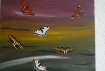 mijn zelfgemaakte schilderijen