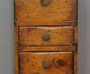 Primitive Spice Cabinets