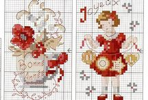 Cross stitch-winter