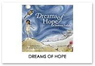 Dreams of Hope / With a quiet compassion for the natural world, a father and daughter explore the deeper meaning of BEAUTY. Land bound Sundees turn into high flying butterflies, and gentle but endangered Chiru snuggle into their warm Shahtooshi. As the father lays his Little One to bed, she is filled with a renewed love and respect for the Earth and all living things.
