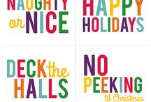 Holiday : Winter / Christmas Printables + Paper Goodies / Paper goods and Free holiday printables for winter parties and Christmas