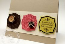 Apothecary Accent Cards / Cards etc made with the Stampin' Up! Apothecary Accent Framelits