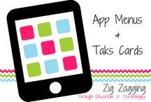 App Menus & Task Cards / Activities from all curriculum areas as iPad App Menus & Task Cards.