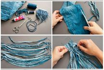 DIY Jewelry: textile, leather, felt / Tutorials and images for ideas of handmade jewelry made from  wool-felt, textile, fabrics, threads, leather, etc.