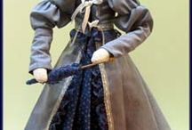 """Linda Walsh / I'm a doll maker & doll pattern designer who lives with 1,796 dolls of my own creation. The """"dollies"""" think they are human so it is never boring in our house. http://pinterest.com/lworiginals/"""