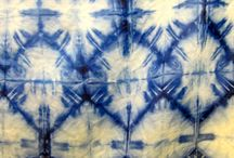 SHIBORI / showing the resist technique, shibori used with plant-based colours