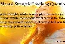 Mental Strength Coaching Questions / Questions to help live an empowered life!