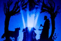 Shadows cut by Hand / Shadow puppets cut out by hand and Projected