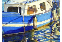 Spanish Fishing Boats / For our April monthly challenge inspired by the Costa Del Sol. Join us at: https://www.facebook.com/groups/creativecostainspired/