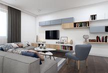 Przytulne mieszkanie w centrum Krakowa / Prezentujemy Państwu nowoczesne, a zarazem ciepłe i przytulne mieszkanie w centrum Krakowa. To połączenie bieli i drewna z dodatkami w chłodno-niebieskim kolorze. Proste meble nadają nowoczesności, a jasne ściany optycznie powiększaja przestrzeń.  Więcej o nas znajdziesz na www.monostudio.pl oraz facebook Projektowanie WNĘTRZ pod klucz MONOstudio.pl