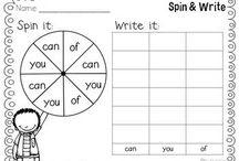 Kindergarten- Sight word practice