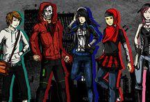 Urban Agresor [alpha] comic: character design / character design in Urban Agresor comic alpha version