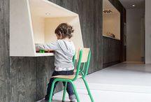 Wall-Mounted Desks for Children