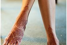 Henna tattoo on the legs