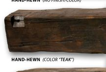 """Barn Beam Fireplace Mantles / Love the look of """"fixer upper""""?  Add an urban modern barn beam mantle to your fireplace."""
