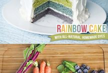 Natural and Organic Food Coloring / Use vegetables to make all-natural food coloring for cupcakes, breads and appetizers.  Below is a list of fun and colorful treats made from natural food coloring. Find recipes for how to make your own food coloring and dyes below.