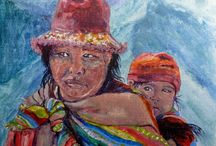 Paintings / A collection of Inca themed paintings