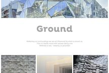 Trend : Ground / Reflecting our surroundings we are all influenced by what is around us. This is a tactile mood with senses taking over. Wellness is key - keeping us grounded.