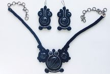 Украшения ручной работы из сутажа, минералов и бусин. / Авторские украшения. Все доступны для покупки.  Soutache jewelery design by Olesya Naryzhnaya. Every item for sale.