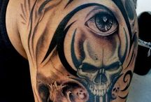Skull and dark tattoos