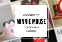 Minnie Mouse Cakes / Minnie mouse cake ideas, for minnie mouse birthday cake, minnie mouse wedding, and minnie mouse baby shower cakes.