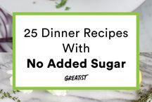 no sugar/ low sugar diet