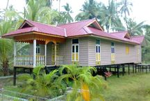 Malay Traditional House Design  / Indonesia typical house designs northwest this part of the Malay traditional houses or batam , not far from the tourist beaches Batubesar , there is a custom home community Nongsa Riau Islands ( Riau ) called Limas House Potong