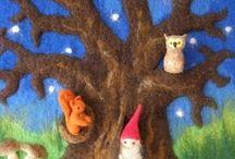 Waldorf Wall Pictures / waldorf wall art decor hanging kids children