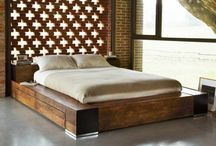 Wooden Bed With Storage