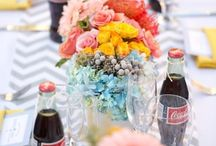 Wedding table DIY / Nice, classic and particular way to arrange your tables. DIY.
