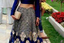 crop top and long skirt